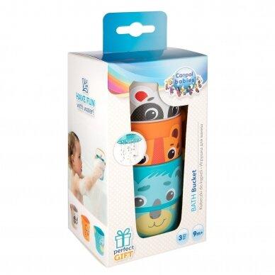 Vonios žaislas Canpol kibirėliai HELLO LITTLE 56/000 2