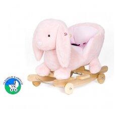 Žaislas-sūpuoklė  TRIUŠIUKAS su ratukais ir garsu